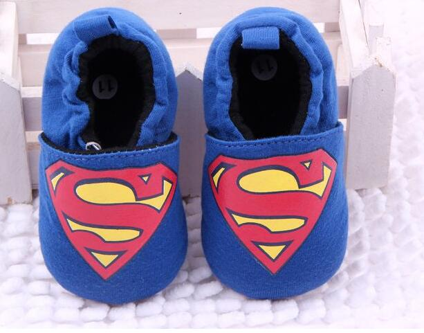 bule Superman knitting cloth red round dot toddler shoes baby shoes for boy11-13cm for baby infant kids child first walke(China (Mainland))