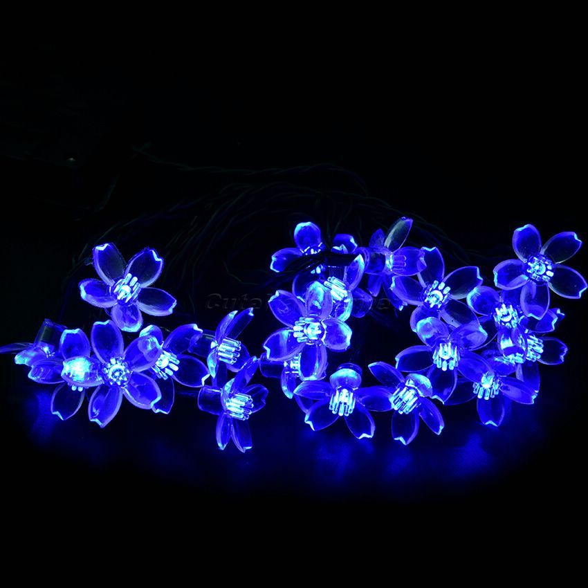 4.8M 20 LED Solar Powered Cherry Shaped String Fairy Lights Garden Christmas Party Halloween Decoration Lamp Outdoor Indoor<br><br>Aliexpress