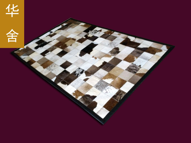 1 piece 100% natural cow leather rag rugs