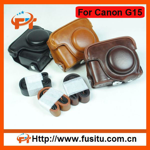 2012 New Style fashion leather camera bag