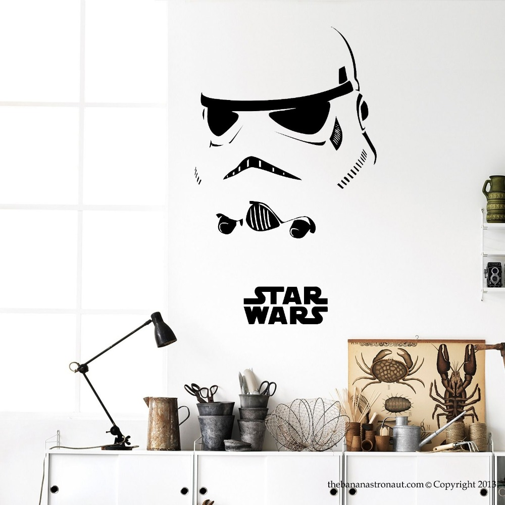 Stormtrooper darth vader starwars star wars vinyl wall for Decal wall art mural