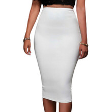 Brief Style Solid Pencil Skirt With Zipper For Office Lady Super Sleek Zipped Bodycon Slim Skirt Womens High Waist LC65009
