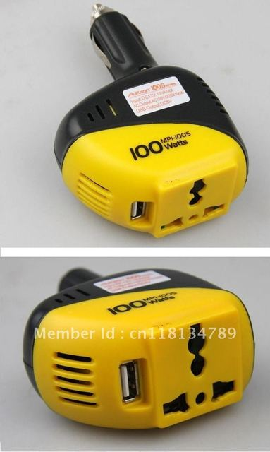 12v mini car power inverter 100W USB car/auto voltage converter ac to dc adapter