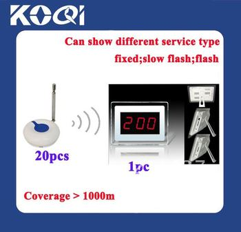 2012 Newest Wireless nurse calling system ; A set of 1pc receiver and 20pcs O1F buttons ; Transmitted Distance is 1000m