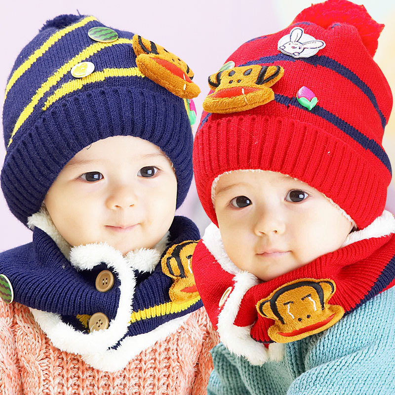 2015 rushed infants and children new winter baby hat