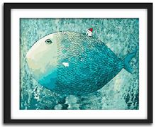Frameless picture on wall diy paint by numbers abstract drawing by numbers christmas gift coloring by numbers fish(China (Mainland))