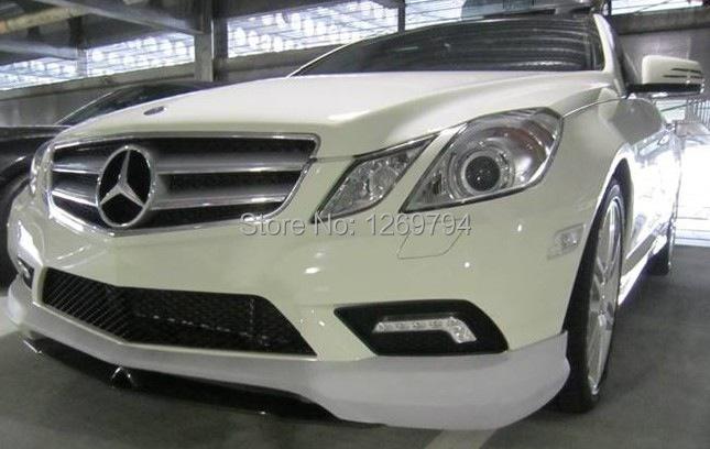 W207 C207 Portion Carbon Fiber Front  Lip  Spoiler C207 For E Class E260 E300 E350  W207  Coupe (10-13) Of The CS Style