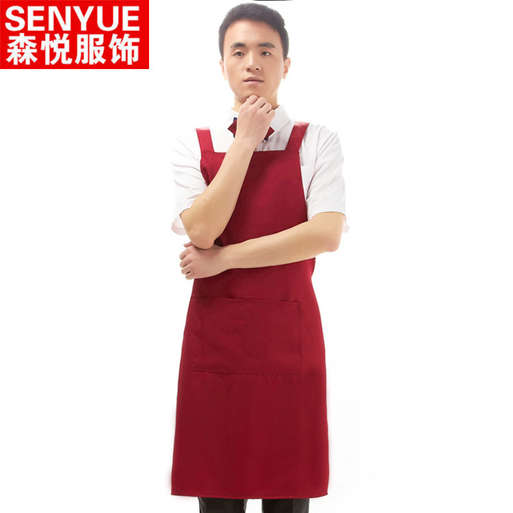 2015 men & women restaurant aprion kitchen aprons waiter and waitress aprons Custom Printing Available free shipping(China (Mainland))