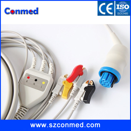 High quality Compatible ARTEMA ROUND 10 PIN ONE PIECE ECG CABLE CLIP IEC(China (Mainland))