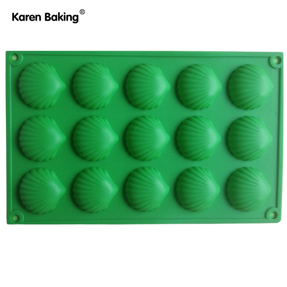 1PCS Shell Shape Muffin Candy Jelly Ice Silicone Mould Mold Baking Pan Tray Bakeware B120(China (Mainland))