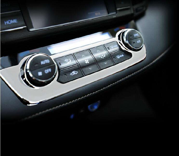 for toyota rav4 2014 car interior decorative frame air conditioning button control panel trim. Black Bedroom Furniture Sets. Home Design Ideas
