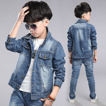 Children's Jacket Denim Boys Jean Jackets boy Kids clothing baby coat Casual outerwear 2016 New Brand factory promotion sales