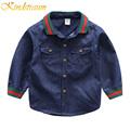 Kindstraum 2017 Boy Shirt Spring Fashion Cowboy Shirts for Boy Long Sleeve Tops Jeans Denim Shirts