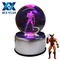 HUI YUAN Wolverine 3D Crystal Ball LED Novelty Light USB AA Battery Rotary Base Glass Ball