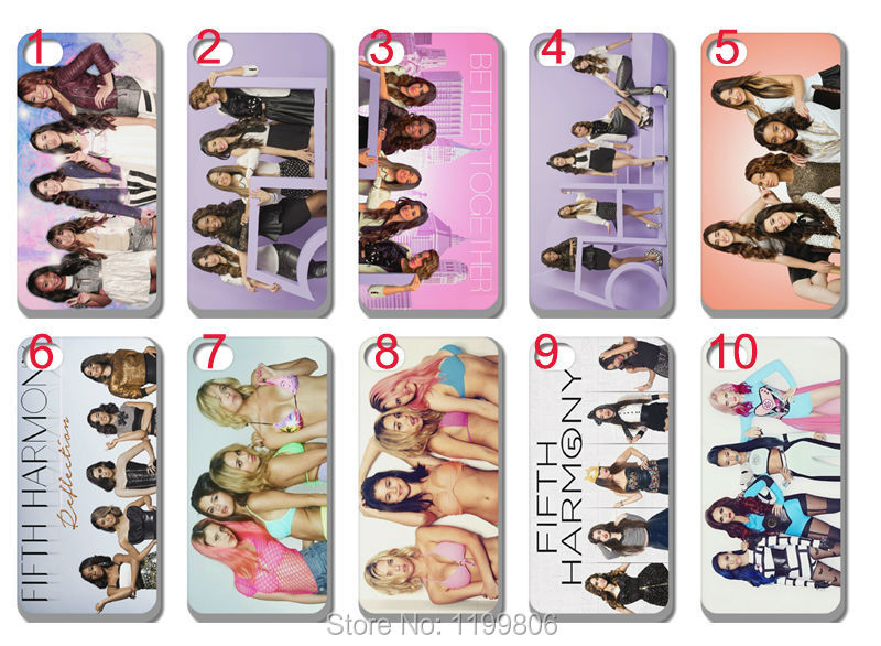 hot for sale! new Fifth Harmony Girls Band case Silicon TPU soft back cover for iphone 4 4G 4S 10PCS/lot free shipping(China (Mainland))