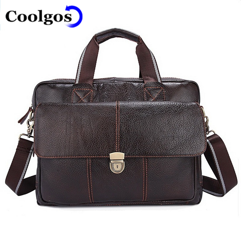 Top SALE Genuine Leather Men Bag Shoulder Bags Brand New FAHSION Men'S Briefcase Business Men'S Travel Tote Men Messenger Bags(China (Mainland))