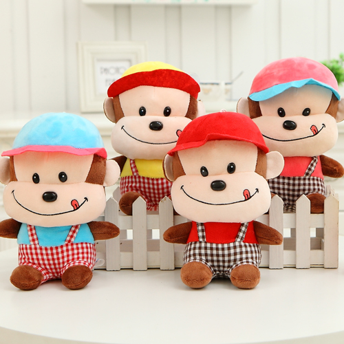 Plush toy cute strap monkey , Wedding Dolls in the year of the monkey mascot, corporate gifts birthday gifts, Christmas gifts(China (Mainland))