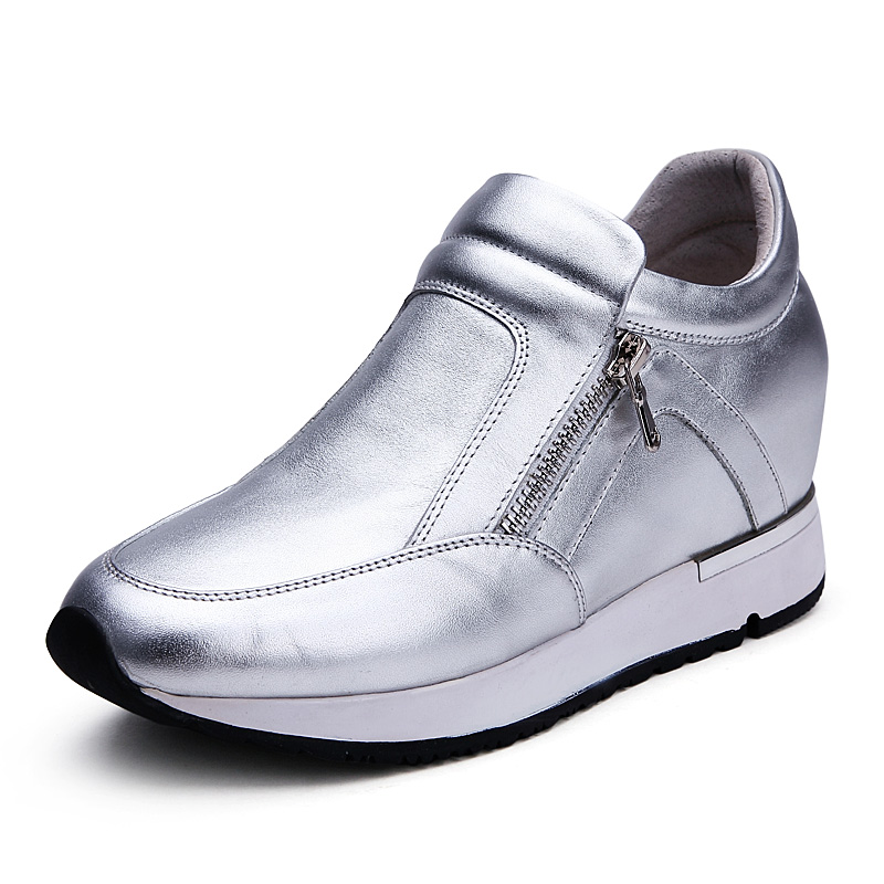 Здесь можно купить  New 2016 Fashion Height Increasing Elevator Platform Flat-Bottomed Shoes for Women Taller 5cm Invisibly Color Black/White/Silver  Обувь