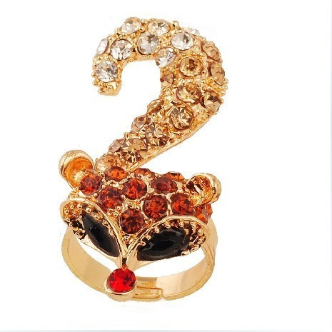 sp010 Only sales promotion 7pcs multicolor Han Edition Small Fox Ring For Women Beautiful And Fashionable Multicolor Optional