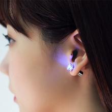 Buy Cool Luminous LED Earrings Women Men Zircon LED Stud Earrings Bling Shiny Earring Party Fashion Jewelry Lover Friend Gift for $1.83 in AliExpress store