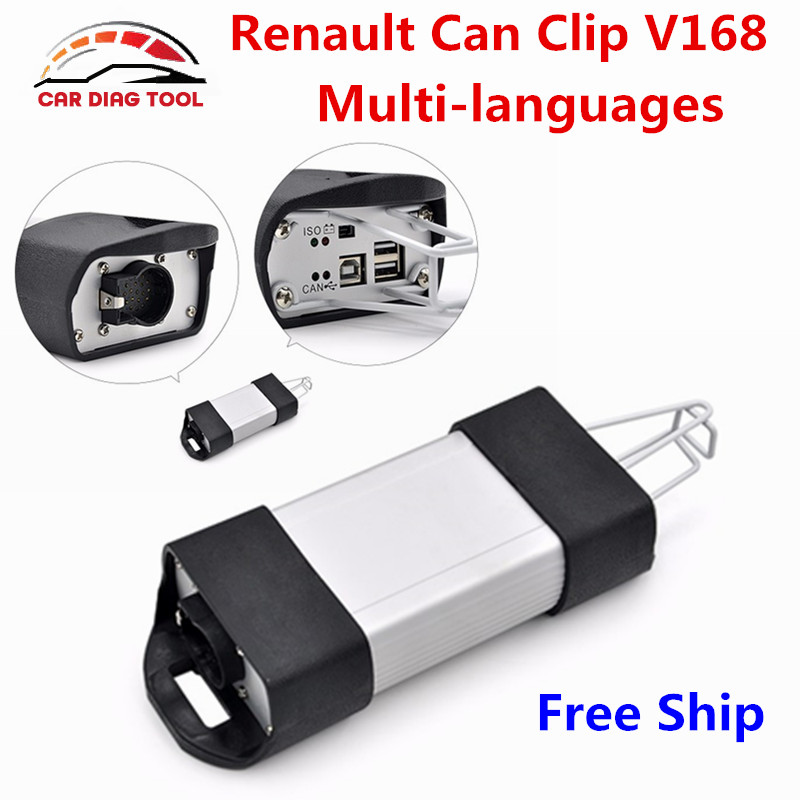 Newest V168 Renault Can Clip Diagnostic Interface Can Clip V168 For Renault Auto OBD2 Scanner Support Full Function Free Ship(China (Mainland))