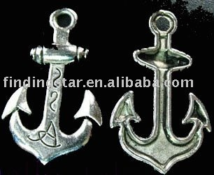 FREE SHIPPING 120Pcs Tibetan silver anchor pendants A1045