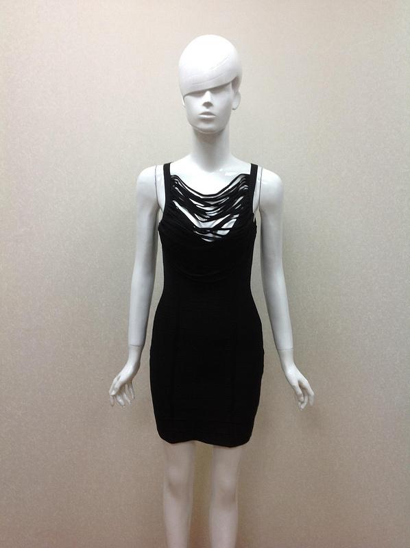 2015 Spring Summer Top Quaility Women Black Spaghetti Strap Mini Bandage Dress Casual Party Bodycon Dresses - Fashion Factory store