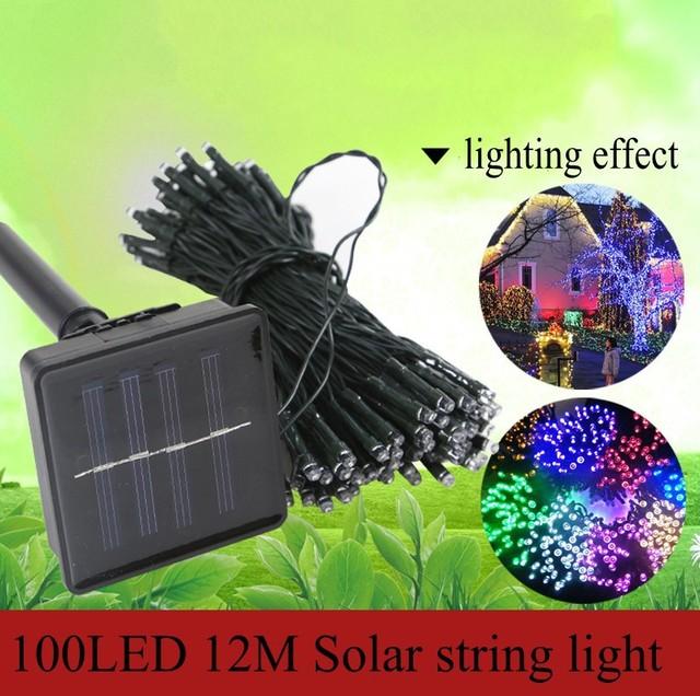 Free shipping,100LED solar string light, LED twinkle light for christmas decor,12m waterproof Christmas neon light retailsale