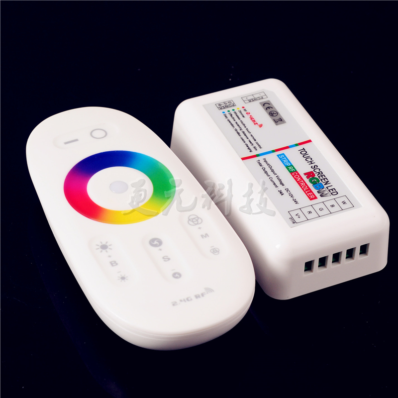 2.4G RGBW LED Strip Dimmable RF Remote Wireless Touch Screen LED Controller 24A(China (Mainland))