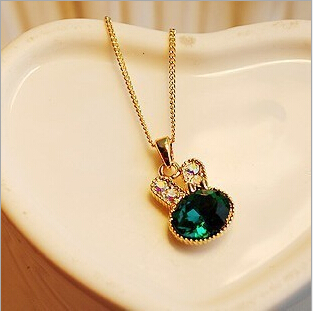 crystal bunny fashion necklaces pendants choker pendant women necklace jewelry accesories for women popular chain necklace 2015(China (Mainland))