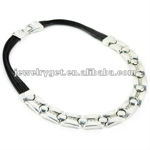 2012 Fashionable Silver Necklace, Alloy Pendant With Diamond Jewelry Necklaces,NL-1716<br>