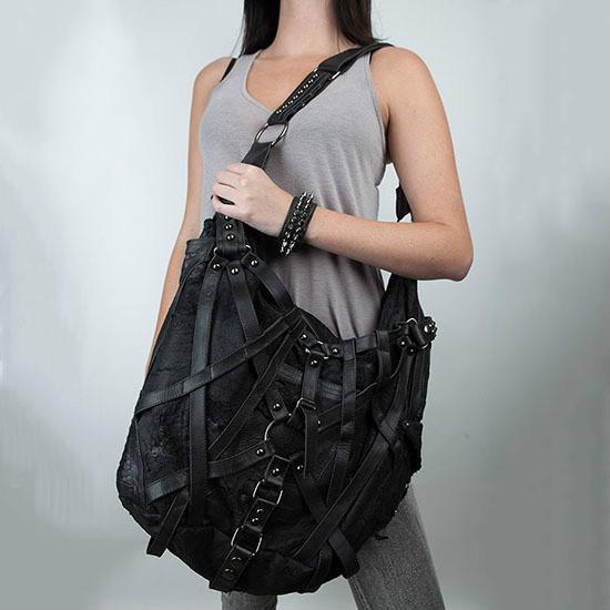 Men/women punk rock retro bag gothic men's handbag rivet bag Handbags Female Fashion Shoulder bags Black Cool Beautiful Bags X24(China (Mainland))