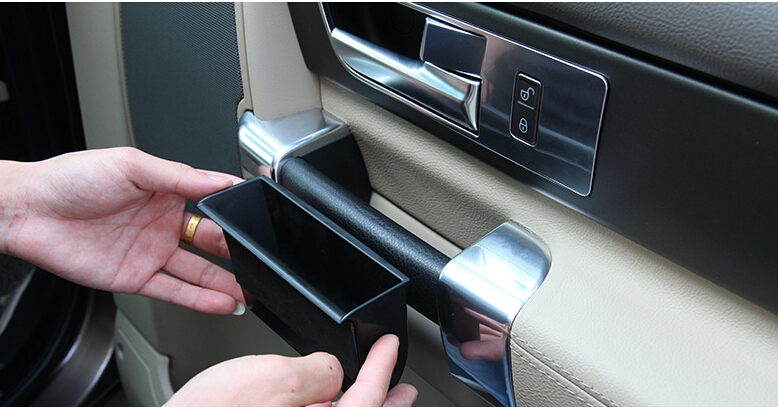 car styling 4pcs inner plastic side door armrest storage box for land rover lr4 discovery 4 2010. Black Bedroom Furniture Sets. Home Design Ideas