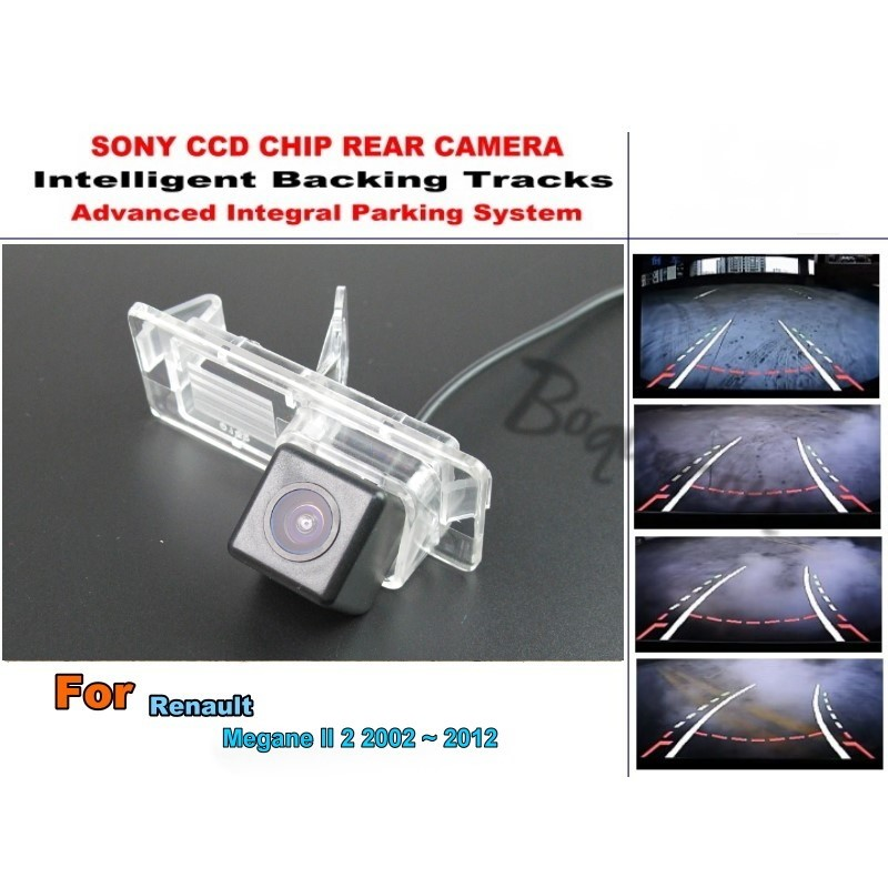Renault Megane II 2 2002 ~ 2012 Car Intelligent Parking Tracks Camera / HD Back Reverse Rear View - Hao Wei Automobile Electronic Store store