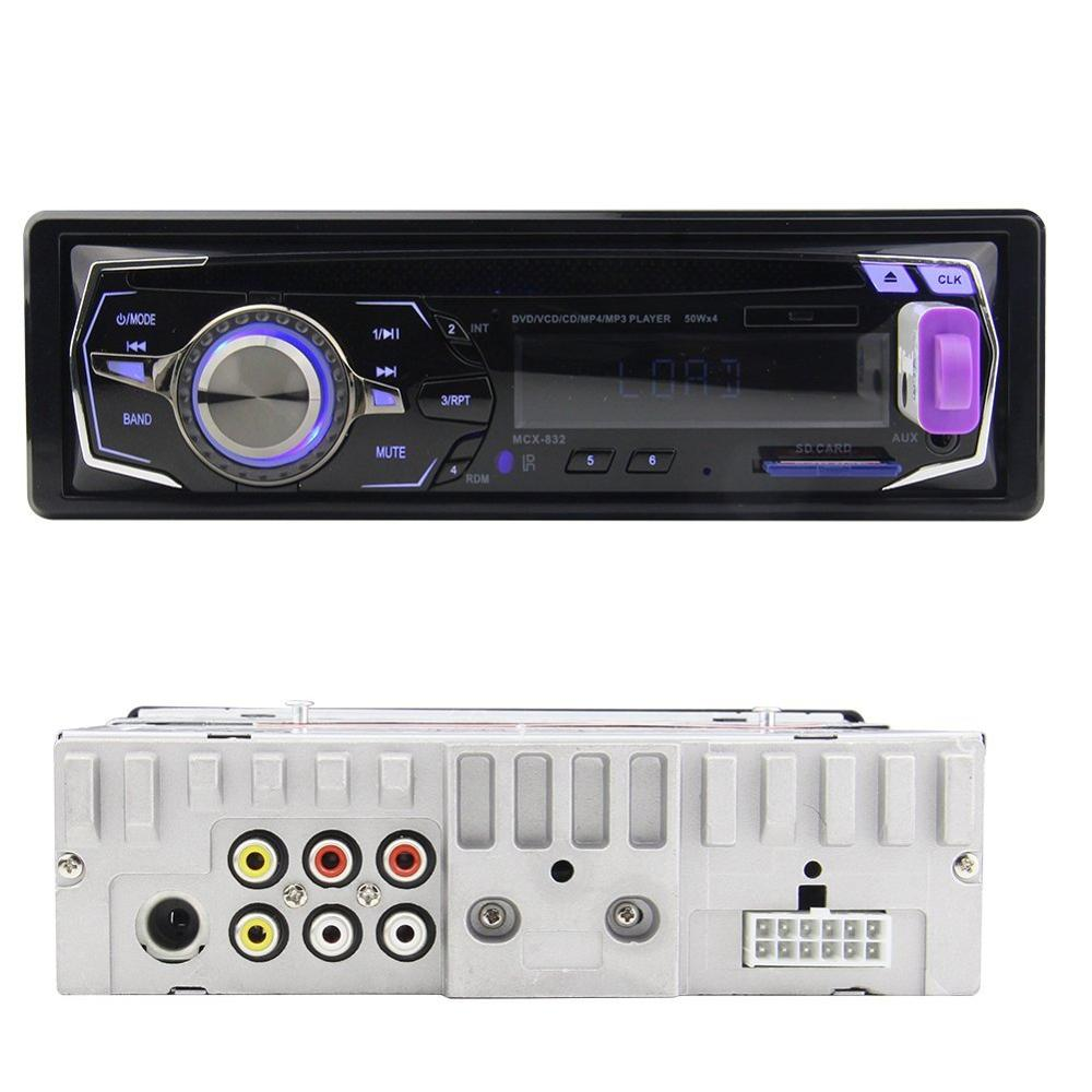single din car dvd player 12v car fm radio 1 din in dash headunit sd usb input stereo mp3 player. Black Bedroom Furniture Sets. Home Design Ideas