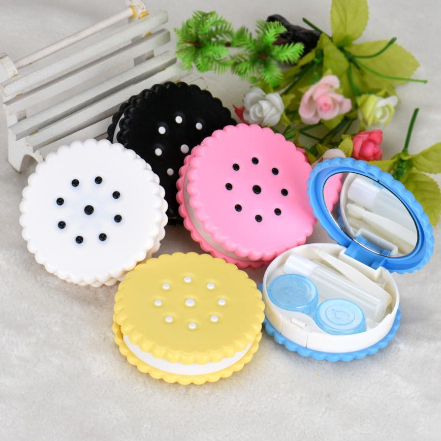 Beauty Girl Hot Cutie Biscuit Contact Lens Case Candy color Cookie Cake Lenses Storage Box Nov 2