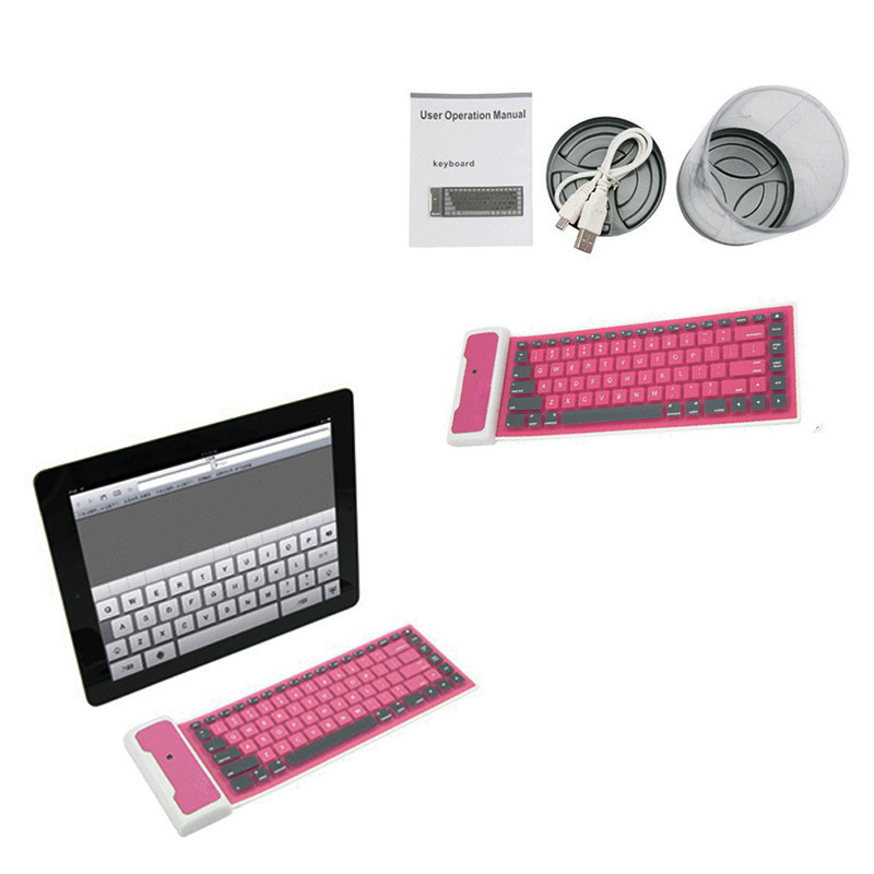 IRULU Bluetooth Wireless keyboard Washable Water-proof Flexible Silicone Roll UP mini bluetooth keyboard New 2015 New Arrival(China (Mainland))