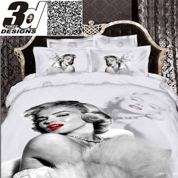 Marilyn Monroe 3d sexy Pattern 4pc bedding set bed sheet Duvet/quilt/Comforter cover Pillowcase King queen size 100% Cotton