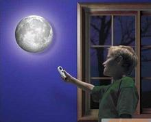 Indoor LED Wall Moon Lamp With Remote Control Relaxing Healing Moon Light Free Shipping(China (Mainland))