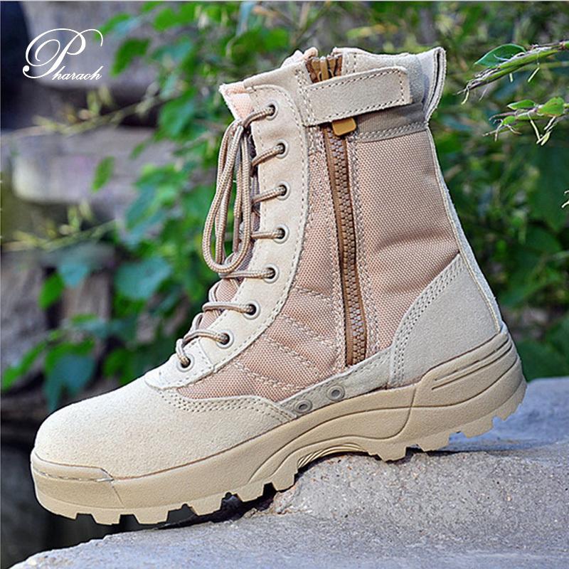 2016 men autumn suede genuine leather boots platform cowboy ankle combat boots for men casual shoes(China (Mainland))