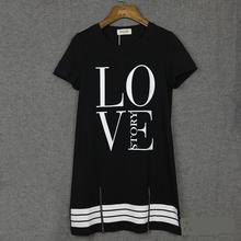 2015 Summer Women Celebrity LOVE Printed Vestidos American Baseball T Shirt Top Short Sleeve Mini Casual Dress vestido de festa(China (Mainland))