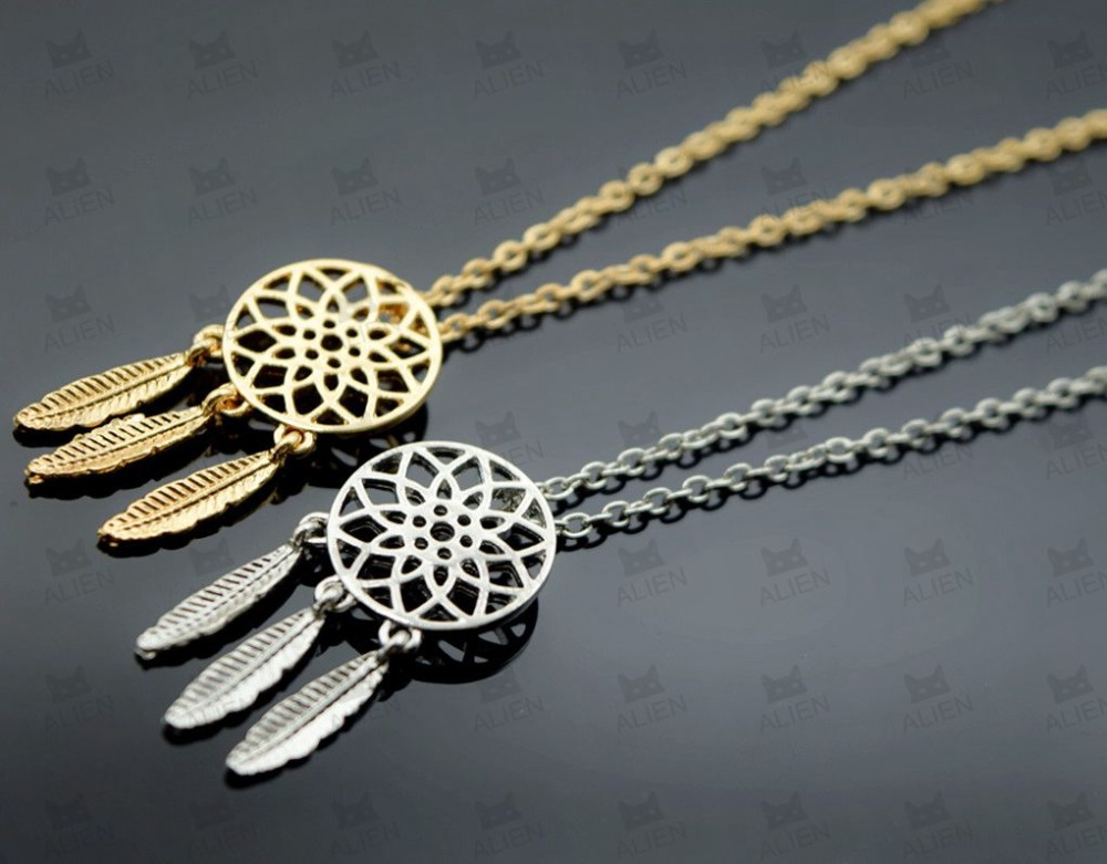 wholesale New Fashion accessories jewelry Dream catcher pendant necklace gift for women girl(China (Mainland))
