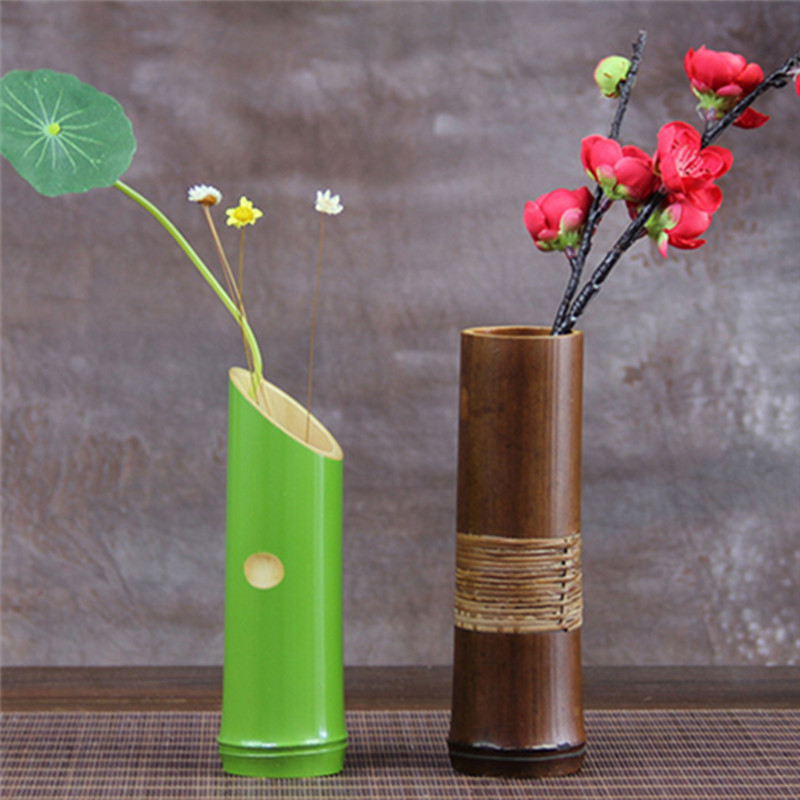 Handmade japanese bamboo flower vase for home decoration for Handmade items for home