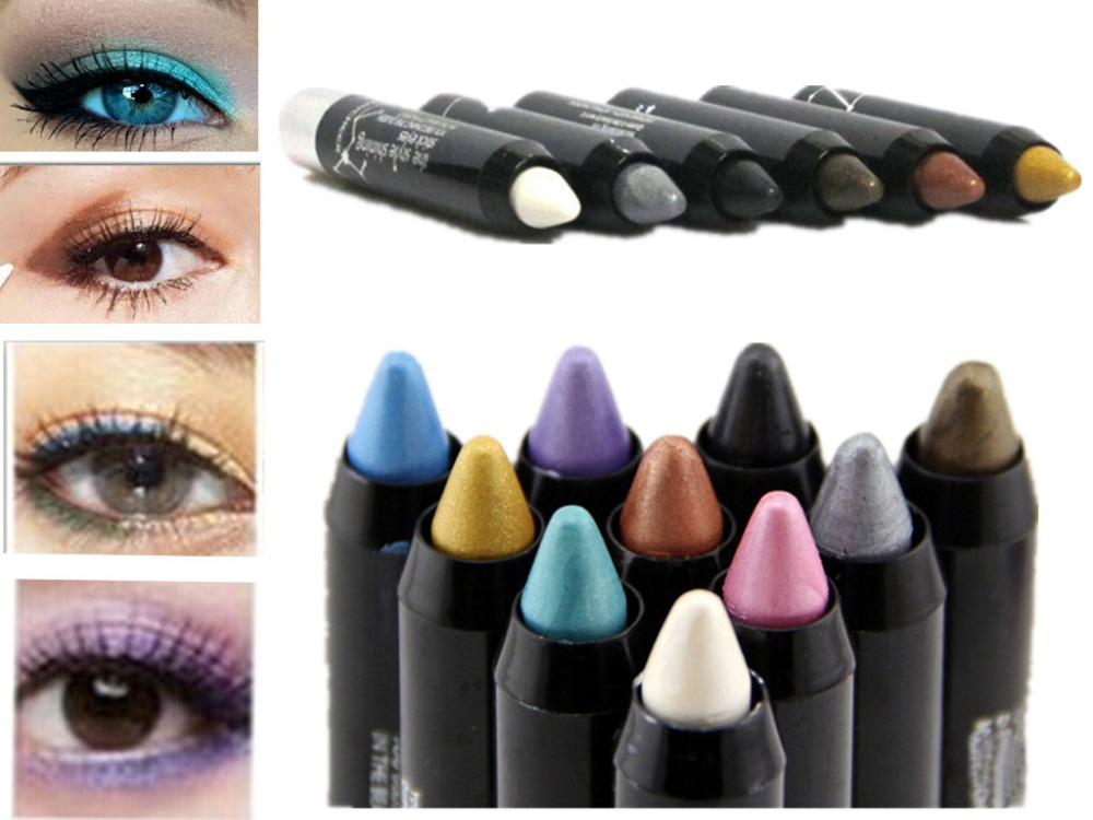 New Magic 12 Colors Cosmetics Makeup Pen Waterproof Eyeshadow Eye Liner Lip Eyeliner Pencil(China (Mainland))