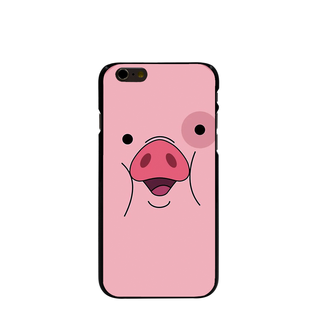 11667 pig cute falls waddles Hard black Cover cell phone Case for iPhone 4 4S 5 5S SE 5C 6 6S Plus 6SPlus(China (Mainland))