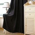 Black Polyester Virginia Blackout weave Grommet Curtain Panels Window Curtain 35 40 wide x 84 length