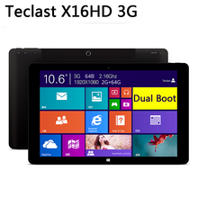 10.6'' Teclast X16HD 3G Dual Boot Tablet PC Intel Bay Trail-T Z3736F Quad Core Retina Screen 2GB/64GB Phone Call(China (Mainland))