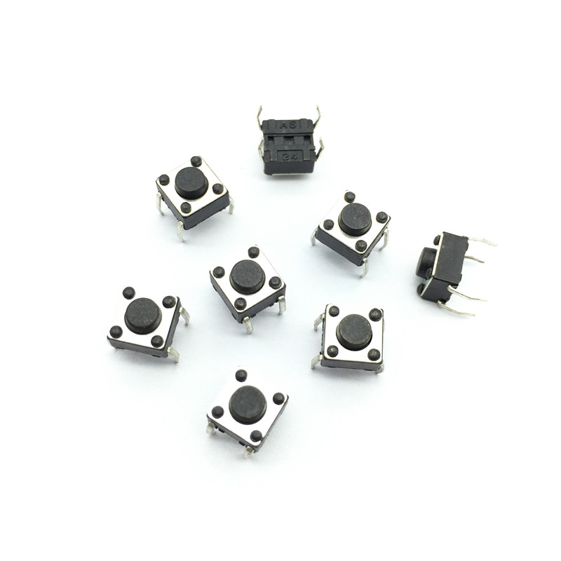 150 Pcs Tact Switch 6x6x4.3 (h) Iron Foot Insert Feature Momentary Contact 4 Pins Dc12v 0.5a Power Switch Button(China (Mainland))