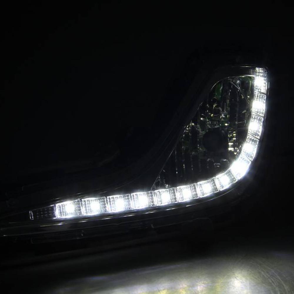 Car DRL kit For Hyundai Accent 2012 2013 LED Daytime Running Light Bar Super bright fog lamp bulb cree car led drl light 12V