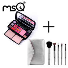 Brand MSQ  Hot Selling Cosmetics Set 15 Colors Face Care Cosmetics Kit Makeup Set and 5pcs High Quality makeup brush set(China (Mainland))